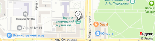 Прозоров В.А. на карте Новокузнецка