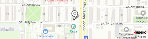 Модный салончик на карте Новокузнецка
