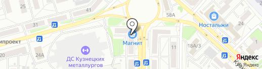Магазин массажного оборудования на карте Новокузнецка