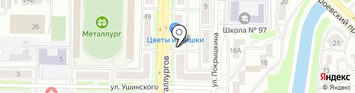 Кудряшовский мясокомбинат на карте Новокузнецка