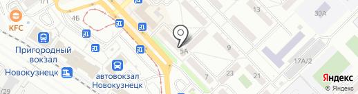 ЗЕФИР на карте Новокузнецка