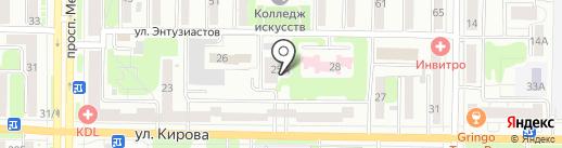 Школа ногтевого дизайна Екатерины Мирошниченко на карте Новокузнецка