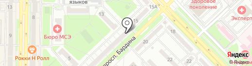 Кружева на карте Новокузнецка