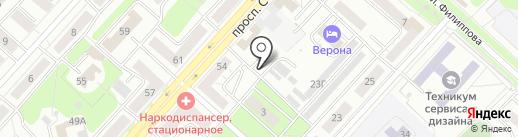 Автостоянка на карте Новокузнецка
