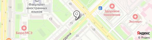 Богиня на карте Новокузнецка