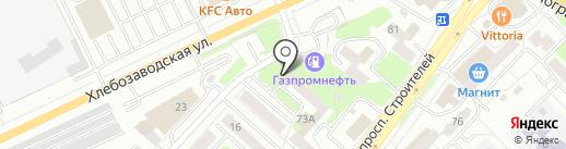Облако на карте Новокузнецка