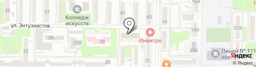 Абаз на карте Новокузнецка