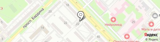 Ладный на карте Новокузнецка