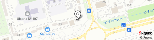 Талисман на карте Новокузнецка