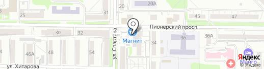 Магазин канцелярских товаров и сувениров на карте Новокузнецка