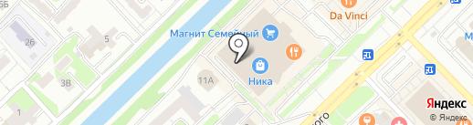 Крендель на карте Новокузнецка