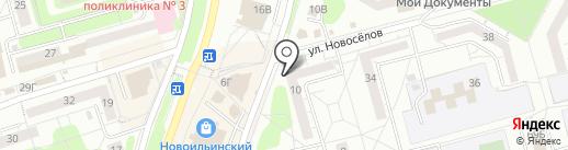Забота, КПКГ на карте Новокузнецка