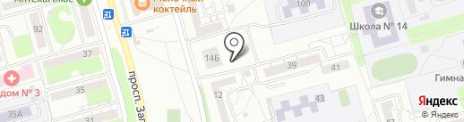 Магазин мяса птицы на карте Новокузнецка