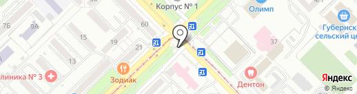 Калина-Малина на карте Новокузнецка