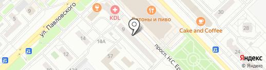 Мереком на карте Новокузнецка
