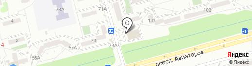 Банкомат, Мособлбанк, ПАО на карте Новокузнецка