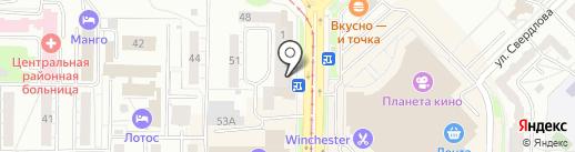 Универсал на карте Новокузнецка