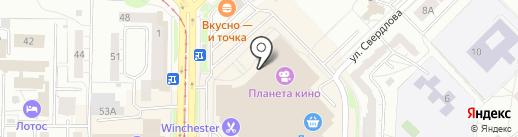 Гравитация на карте Новокузнецка