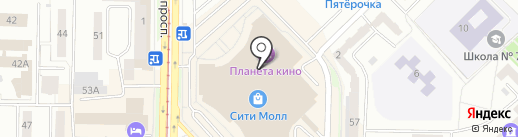 Торэкс на карте Новокузнецка