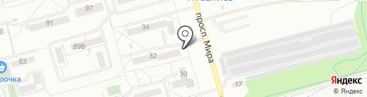 Магазин по продаже хлебобулочных изделий на карте Новокузнецка