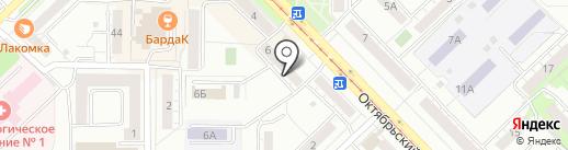 Меридиан на карте Новокузнецка