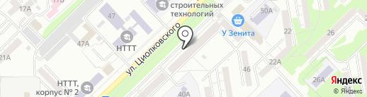 Джинсс на карте Новокузнецка
