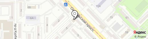 Альбион на карте Новокузнецка