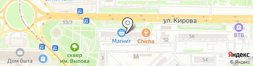 Магнит на карте Новокузнецка