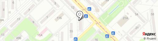 Отель на карте Новокузнецка