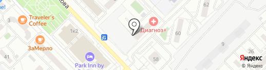 Аренда Суточно.ру на карте Новокузнецка