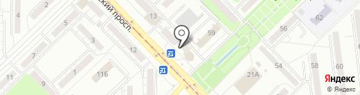 Олеся на карте Новокузнецка