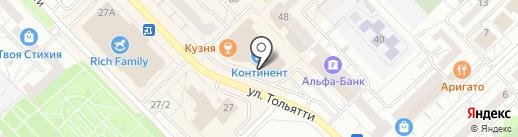 Кино-бар на карте Новокузнецка