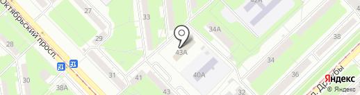 Комплексный центр социального обслуживания населения Новокузнецкого района на карте Новокузнецка