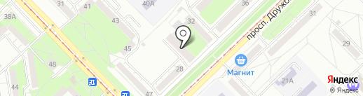 Прачечная на карте Новокузнецка