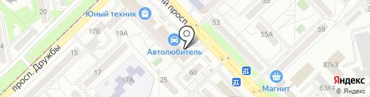Магазин по продаже печатной продукции на карте Новокузнецка