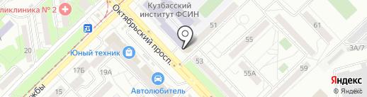 Габарит на карте Новокузнецка
