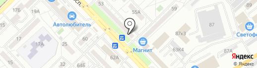 А-деталь на карте Новокузнецка