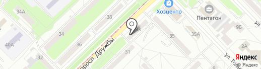 Компания по отогреву автомобилей на карте Новокузнецка