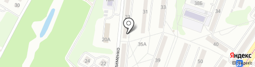 Закат на карте Новокузнецка