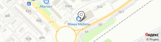 Е 1 на карте Новокузнецка