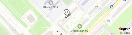 Авангард на карте Новокузнецка