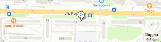 Сибирский дачник на карте Новокузнецка