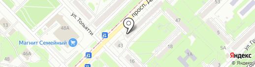 Золотой жук на карте Новокузнецка