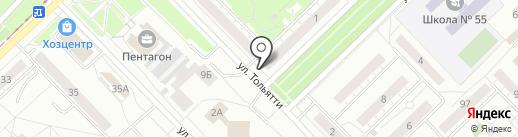 Феномен на карте Новокузнецка