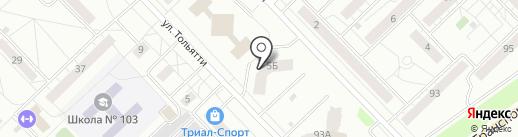 Фитнес-студия Алены Гордиенко на карте Новокузнецка