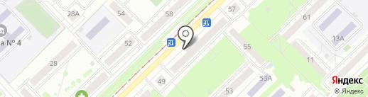 Юбилейный на карте Новокузнецка