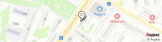 Магазин овощей и фруктов на карте Новокузнецка