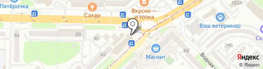 Магазин женской одежды и головных уборов на карте Новокузнецка