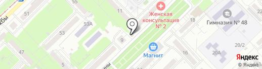 Магазин кондитерских изделий на карте Новокузнецка