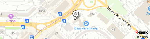 Векша на карте Новокузнецка